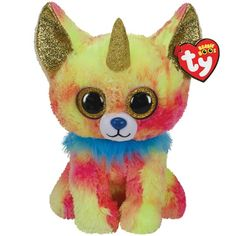 Buy the Ty Beanie Boos™ Yips Chihuahua with Horn, Medium at Michaels. Cuddles, kisses, and lots of attention makes this Chihuahua from Ty very happy. All Beanie Boos, Beanie Boo Dogs, Ty Beanie, Beanie Babies, Ty Plush, Purple Owl, Small Dog Breeds, Plush Animals, Golden Horn