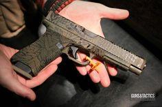 Custom Glock 34 from Valkyrie Combat Bullet Vest, Glock Stippling, Zombie Guns, Custom Glock, Battle Rifle, Gun Art, Firearms, Shotguns, Cool Guns