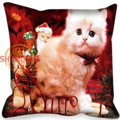 It's Always Christmas Cat Cushion Covers