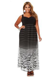 Black & Cream Batik Print Gypsy Maxi Dress   My clothes wishlist ...