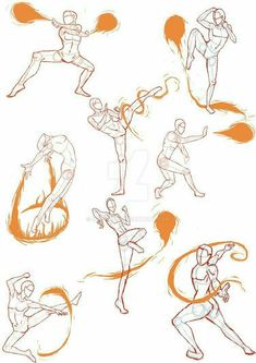 Manga Drawing Techniques Practice Sketches 4 (FireBender Poses) by - Human Figure Drawing, Figure Drawing Reference, Anatomy Reference, Drawing Practice, Drawing Sketches, Art Drawings, Drawing Tips, Drawing Techniques, Drawing Ideas