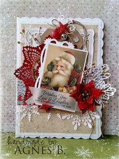 Christmas Card by Agnes B for prima challenge.