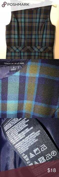 Toomy Hilfiger Career Dress EUC Worn once. Machine washable perfect condition. 15 waist measured flat. 37 length. Size 8. True to size. Tommy Hilfiger Dresses