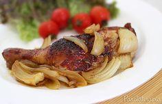 Frango Assado na Cebola ~ PANELATERAPIA - Blog de Culinária, Gastronomia e Receitas