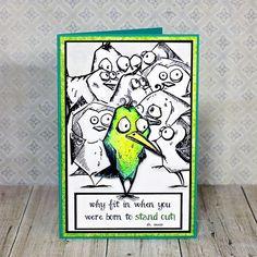 Crazy Bird Inspiration- Jan Hobbins for Sizzix