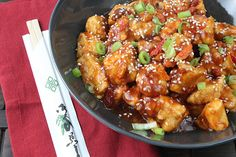 general tso's chicken (yes, GENERAL TSO'S CHICKEN...at 236 calories per serving!)
