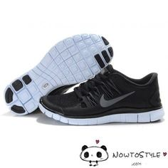 Nike Free Run 5.0 V2 Womens Mens Black Silver - Freen Run