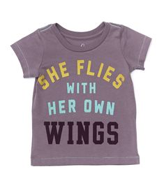 She flies with her own wings girls' shirt