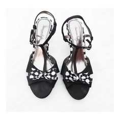 """• Polka Dot Heels • These are the cutest ever! Black and white polka dot heels, 2.5"""" heels. Great condition. No trades. True to size American Eagle by Payless Shoes Heels"""