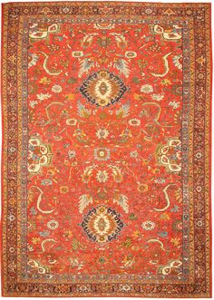 Antique Sultanabad Persian Rugs 43330 Main Image - By Nazmiyal