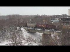 C N R Train crossing bridge Northern Lights, Bridge, Photographs, Wildlife, Train, Watch, Architecture, Nature, Blog