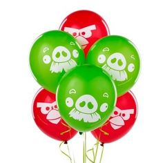 Angry Birds Balloons | 6ct for $3.80 in Angry Birds - Party Themes
