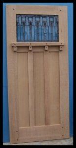 Wonderful Classic Craftsman Style Entry Door W/ Dentil Shelf   1 Lite Over 3 Panel