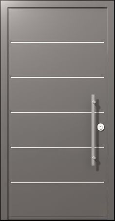 The Scala door upgrades the Porto door as it adds stainless steel stripes, providing the door with strained prestige.  The urban style sends a clean, calm and symmetric style with an up-to-date minimalistic concept