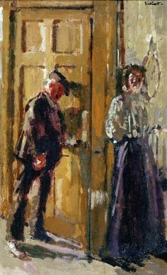 Walter Richard Sickert 'Off to the Pub (The Week-End)' 1912