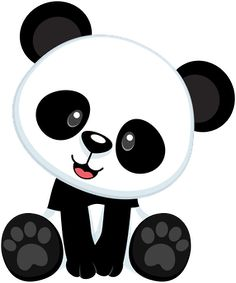 Panda on pandas panda bears and cute panda clip art - Clipartix