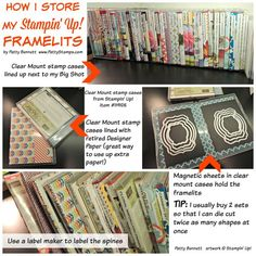 How To Store Your Stampin Up Big Shot Framelits In Clear Mount Stamp Set Cases