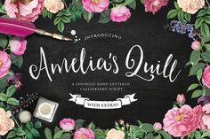 Amelia's Quill Script + Bonus by Nicky Laatz on Creative Market