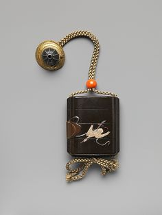 Inrō with Captured Heron, Edo period (1615–1868), 19th century,  #Lacquer, #Japan