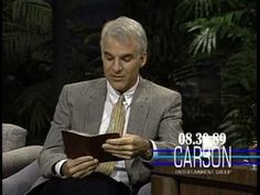 "Steve Martin Reads from His Diary on ""The Tonight Show Starring Johnny Carson"" — 1989"