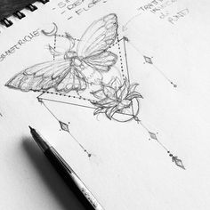Aki_anyway&Apos;S art lovely and darling tattoos тату e рисовать. Kunst Tattoos, Body Art Tattoos, Small Tattoos, Tatoos, Butterfly Tattoo Cover Up, Butterfly Tattoo On Shoulder, Cicada Tattoo, Honey Bee Tattoo, Geometric Tattoo Design