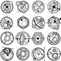 More Gallifreyan writing from The Moment (DAY OF THE DOCTOR), by tardisbuilders forum member rob49152