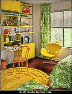 70s theme decorating - Funky Flower Power Bedrooms - 70's Theme Decor - 70s theme bedroom decorating