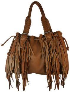 Montana West Womens Hobo Drawstring Handbag Fringed Western Purse Faux Leather I Wish It Were