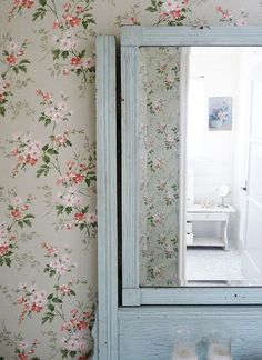 Visiting Rachel Ashwell at home by decor8, via Flickr Reflection in mirror is wonderful.