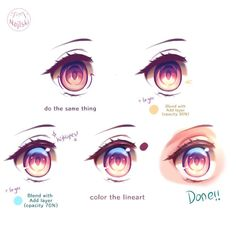 (Swipe for the video) EYE TUTORIAL ✨✨ (well finally.) I used Medibang Paint for this, and for the tools I only used pencil brush, air… Eye Drawing Tutorials, Digital Painting Tutorials, Digital Art Tutorial, Drawing Techniques, Drawing Skills, Drawing Tips, How To Shade, Eye Tutorial, Anime Eyes