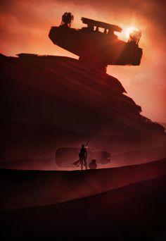 Wonderful Noir Star Wars Illustrations - UltraLinx