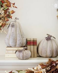 These hauntingly magical pumpkins are perfect for an elegant indoor Halloween display.