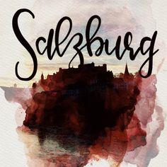 Salzburg Lettering Handlettering Aquarell Art Salzburg, Arabic Calligraphy, Lettering, Instagram, Art, Watercolor, Art Background, Kunst, Drawing Letters