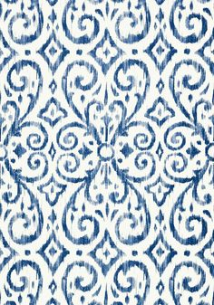 PATARA IKAT, Navy, T64142, Collection Caravan from Thibaut