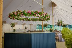 A bespoke built hexagonal bar is the perfect central point in this wedding marquee. Central Point, Unique Wedding Venues, Marquee Wedding, North Yorkshire, Newlyweds, Big Day, Bespoke, Countryside, Bar