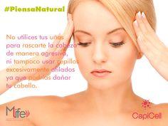 Cuida tu #cabello inclusive cuando te rascas la cabeza con tus manos. #PiensaNatural #Pelo #Tips www.capicell.com