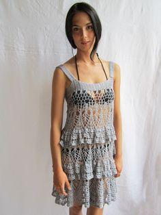 Anna Kosturova crochet Flapper dress