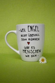 Geschenk Tasse für ENGEL  Dein Geschenk  Geschenk von hochdietassen via dawanda.com