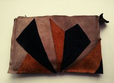leather clutch with zipp from ikki by niki nepper