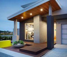 House Facade Modern Decks New Ideas Renovation Facade, Home Renovation, Flat Roof House, Facade House, Modern House Facades, Modern House Design, Dream House Exterior, Exterior House Colors, Modern Exterior