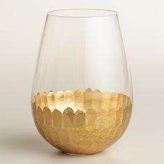 Gold Stemless Wine Glasses, Set of 4 | World Market