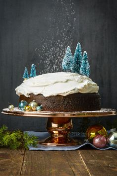 Tremendous Gingerbread: Cross one more thing off your holiday dinner checklist by making this super-moist cake up to a month early and freezing it. Thawed and topped with whipped cream, no one will know the difference! Click through for more Christmas desserts for an extra sweet holiday!