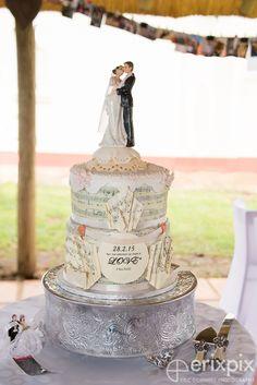 Music Score Wedding Cake