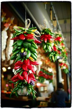 lisafs:    Chili Pepper Decor @ Pike Place Market by どこでもいっしょ on Flickr.