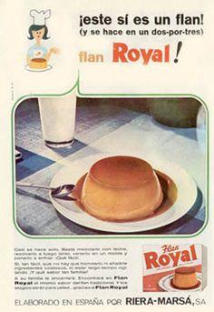 Flan, Vintage Ads, Vintage Designs, Old Advertisements, Vintage Recipes, Nostalgia, Childhood, Desserts, Posters