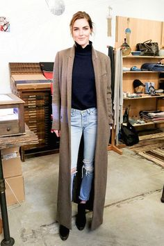Two Ways: Long Coat, Jeans and Boots