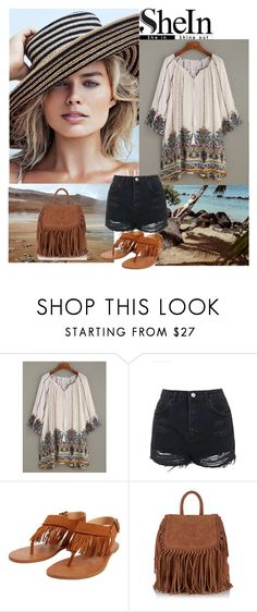"""""""SHEIN - White Retro Dress"""" by merima-k ❤ liked on Polyvore featuring Topshop, Billabong and Superdry"""