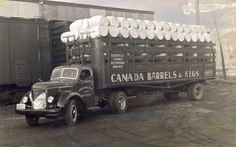 Canada Barrel & Keg Company (est early making a delivery in Perhaps it was to the Oktoberfest celebrations! Waterloo Ontario, Kitchener Ontario, Local History, Twin Cities, My Heritage, Barrel, Celebrations, Coloring, Delivery