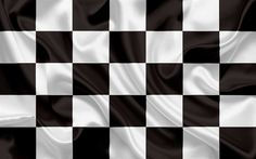 Download wallpapers Checkered Flag, black white flag, finish flag, silk flags