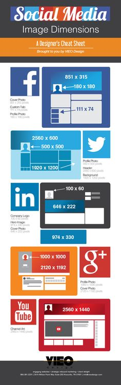 NEW, from VIEO's Graphic Design Intern Lauren Nelson! 2014 Social Media Image Sizes: A User's Guide for Designers